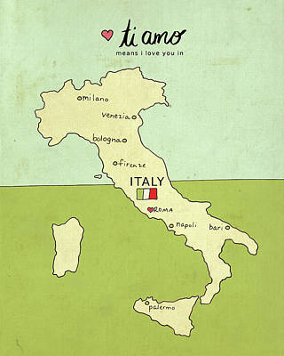 Italy Poster by Lisa Barbero