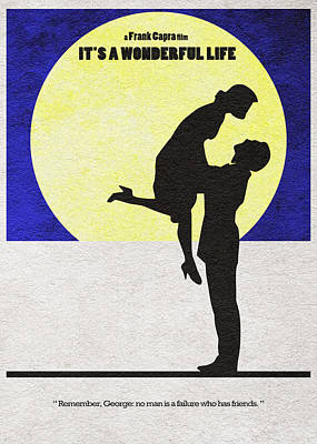 It's A Wonderful Life Poster by Ayse Deniz