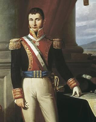 Iturbide, Agust�n 1783-1824. Mexican Poster by Everett