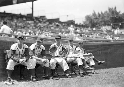 Chicago Cubs Bench Poster by Retro Images Archive