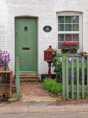 Ivy Cottage Welcome Poster by Gill Billington
