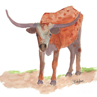 Izzy The Longhorn Poster by Barbara Bledsoe