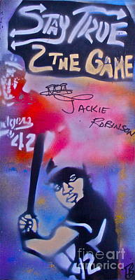 Jackie Robinson Red Poster by Tony B Conscious