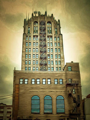 Jackson County Tower Poster by MJ Olsen