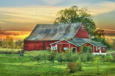 Jackson Orchard Poster by Lori Deiter