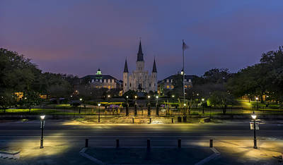 Jackson Square Sunrise Poster by David Morefield