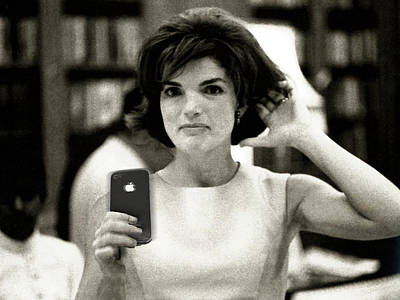 Jacky Kennedy Takes A Selfie Poster by Tony Rubino