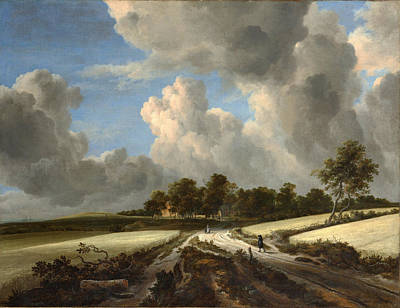 Jacob Van Ruisdael  Wheat Fields C 1670 Poster by MotionAge Designs