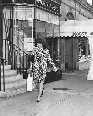 Jacqueline Kennedy In Leopard Print Poster by Retro Images Archive