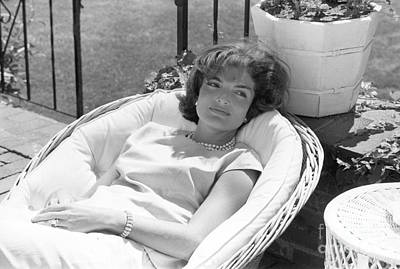 Jacqueline Kennedy Relaxing At Hyannis Port 1959. Poster by The Harrington Collection