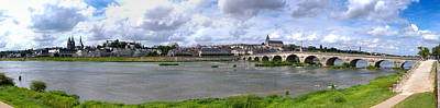Jacques Gabriel Bridge Over The Loire Poster by Panoramic Images