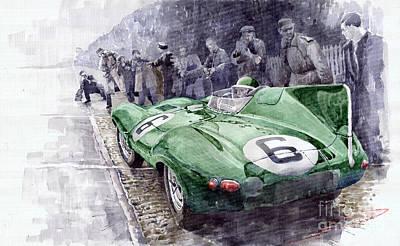 Jaguar D-type  1955 Le Mans  Poster by Yuriy Shevchuk