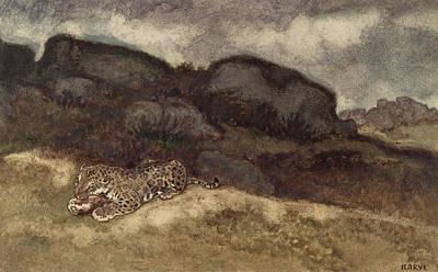 Jaguar Devouring Its Prey Poster by Antoine Louis Barye