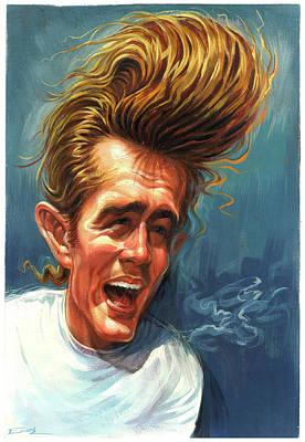 James Dean Poster by Art