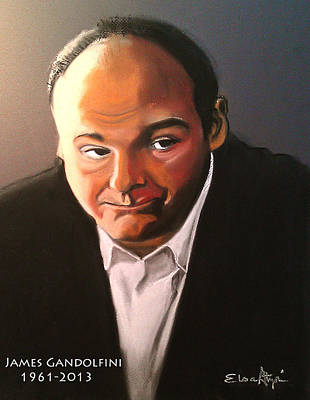 James Gandolfini Poster by Elsa Atzori