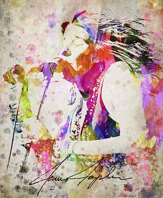 Janis Joplin Portrait Poster by Aged Pixel