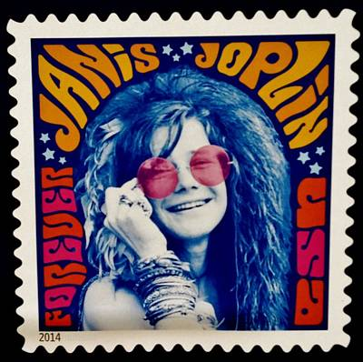 Janis Stamp In A Groovy Vibe Poster by Rob Hans