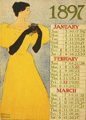 January February March Poster by Edward Penfield