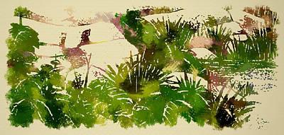 Japanese Washi Garden Reflections Poster by Mario Carini
