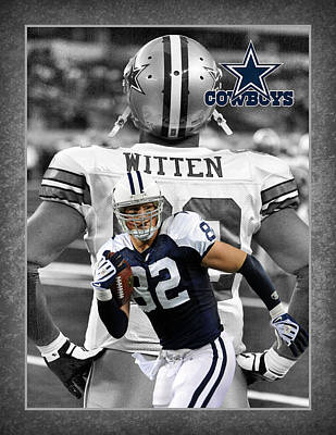 Jason Witten Cowboys Poster by Joe Hamilton
