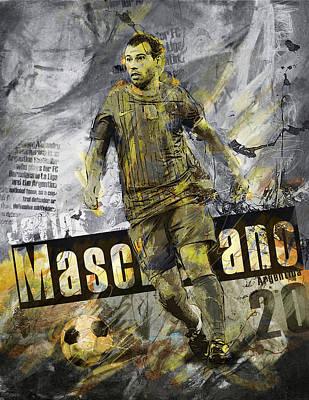 Javier Mascherano - C Poster by Corporate Art Task Force