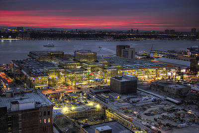 Javits Sunset Poster by C W Edwards