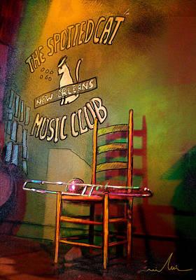 Jazz Break In New Orleans Poster by Miki De Goodaboom