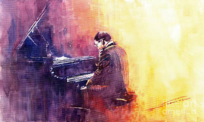 Jazz Herbie Hancock  Poster by Yuriy  Shevchuk