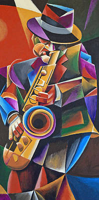 Jazz Sax Poster by Bob Gregory