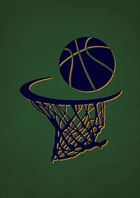 Jazz Team Hoop2 Poster by Joe Hamilton