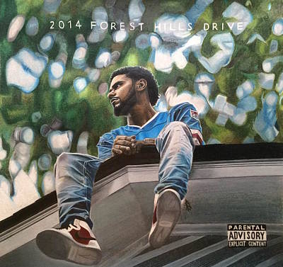 J.cole - 2014 Forest Hills Drive Drawing Poster by Angelee Borrero