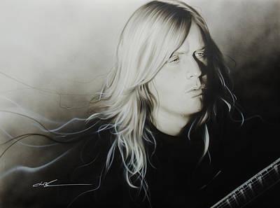 Jeff Hanneman - 'jeff H' Poster by Christian Chapman Art