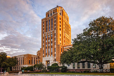 Jefferson County Courthouse At Sunrise - Beaumont East Texas Poster by Silvio Ligutti