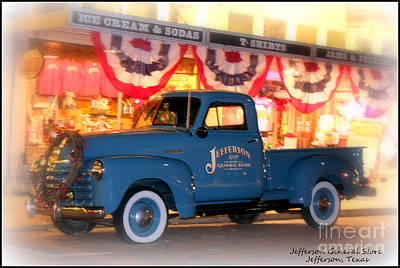 Jefferson General Store 51 Chevy Pickup Poster by Kathy  White
