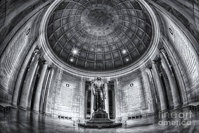 Jefferson Memorial Interior II Poster by Clarence Holmes