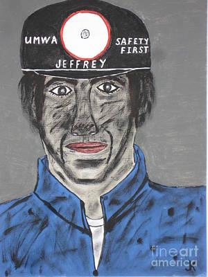 Jeffrey The Coal Miner Poster by Jeffrey Koss