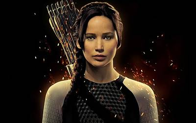 Jennifer Lawrence As Katniss Everdeen Poster by Movie Poster Prints