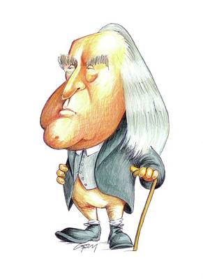 Jeremy Bentham Poster by Gary Brown