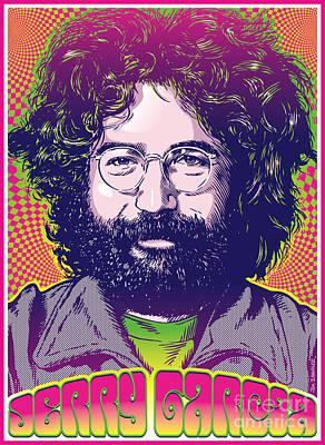 Jerry Garcia Pop Art Poster by Jim Zahniser