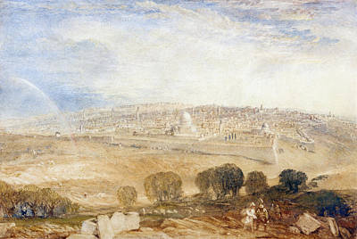 Jerusalem From The Mount Of Olives Poster by Joseph Mallord William Turner