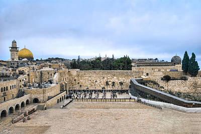 Jerusalem The Western Wall Poster by Ron Shoshani