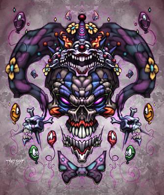 Jester God Poster by David Bollt
