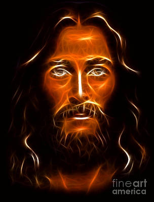 Brilliant Jesus Christ Portrait Poster by Pamela Johnson