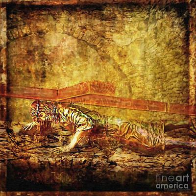 Jesus Falls Third Time Via Dolorosa 9 Poster by Lianne Schneider