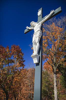 Jesus On The Cross Poster by Adam Romanowicz