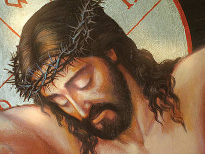 Jesus On The Cross Variant 2 Poster by Zorina Baldescu