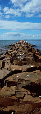Jetty A Sea, Montauk Point, Montauk Poster by Panoramic Images