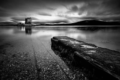 Jetty To Castle Stalker Poster by Dave Bowman