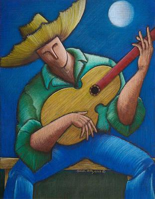 Jibaro Bajo La Luna Poster by Oscar Ortiz