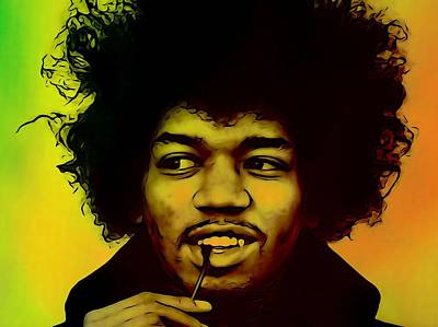 Jimi Hendrix  Poster by Dan Sproul